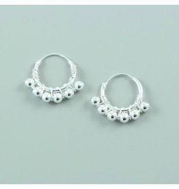 LAVI Sterling Silver Bali Earrings - 17mm