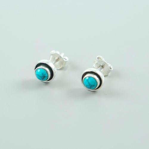 LAVI Turquoise Ear Studs  - 7mm