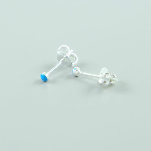 LAVI Turquoise Oorknoppen - 2mm