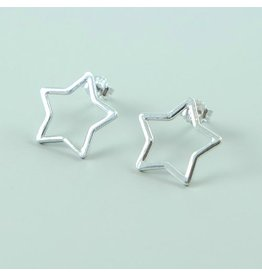 LAVI Sterling Silver Star Ear Studs