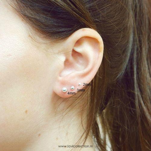 Lavi Sterling Silver Ball Stud Earrings