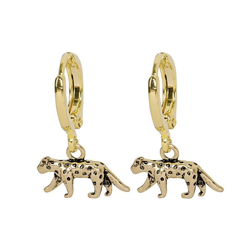 Wild Tiger Earrings - Gold