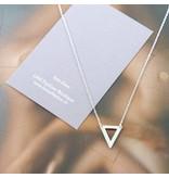 LAVI Zilveren ketting Open Driehoek