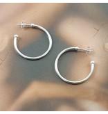 LAVI Zilveren Stekercreolen- 3cm
