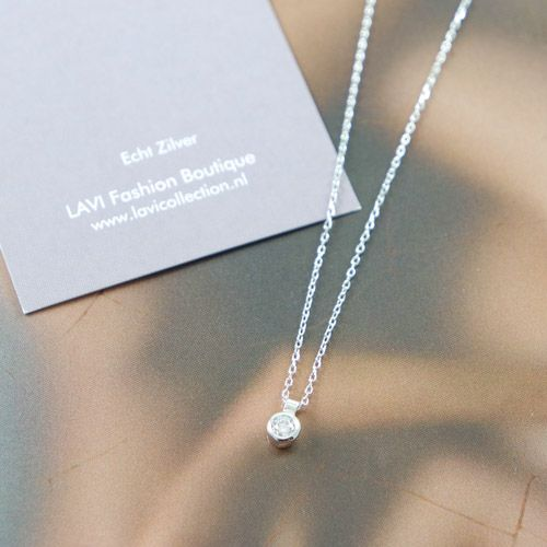 LAVI Sterling Silver Zirconia Necklace