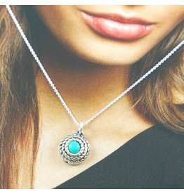 LAVI Turquoise Ketting  Echt Zilver