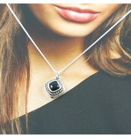 LAVI Sterling Silver Onyx Necklace