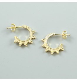LAVI Gold plated Sterling Silver Bali Hoop Earrings