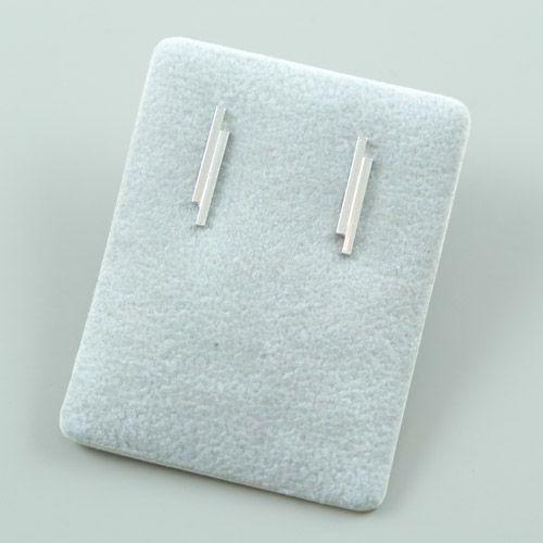 LAVI Sterling Silver Double Bar Stud Earrings