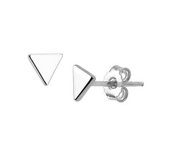 LAVI Sterling Silver Triangle Ear Studs