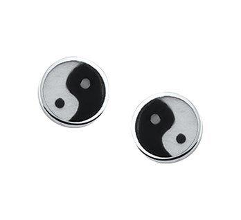 LAVI Yin Yang Ear Studs Silver
