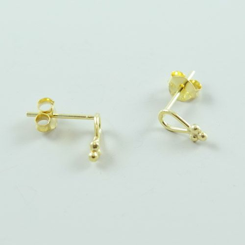 LAVI Gold plated Drop Ear Studs