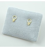 LAVI Gold plated Open Circle Ear Studs