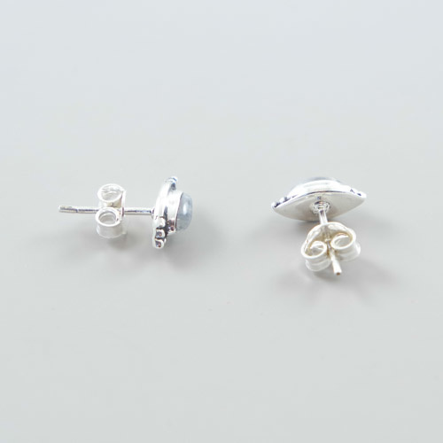 LAVI Sterling Silver Moonstone Ear Studs