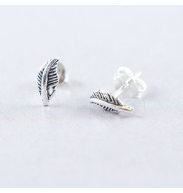 LAVI Sterling Silver Feather Stud Earrings
