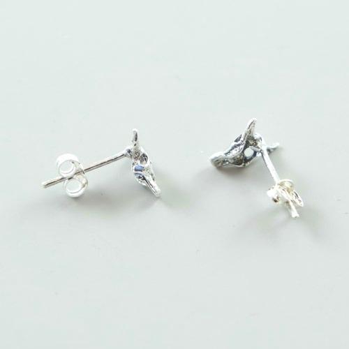 Bullhead Earrings - Sterling Silver