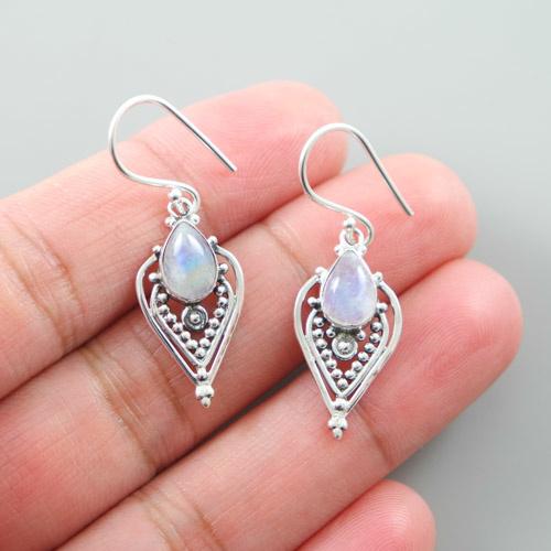LAVI Moonstone Earrings Sterling Silver