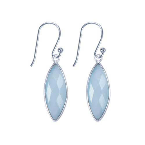 Chalcedony Earrings Sterling Silver