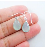 Chalcedony Earrings Sterling Silver