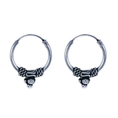 LAVI Sterling Silver Bali Earrings - 14mm