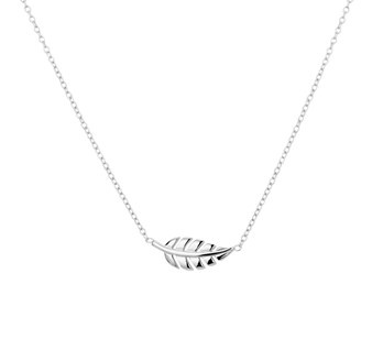 Feather Necklace Sterling Silver