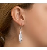 Trendy Feather Earrings Silver