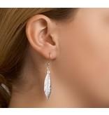 Trendy Veer oorbellen Zilver