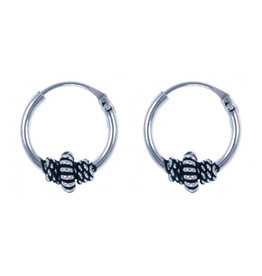 LAVI Sterling Silver Bali Hoop Earrings