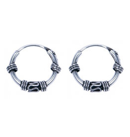 LAVI Sterling Silver Bali Hoop Earrings 12mm