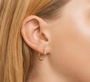 Hoop Earrings 18mm - Gold Plated