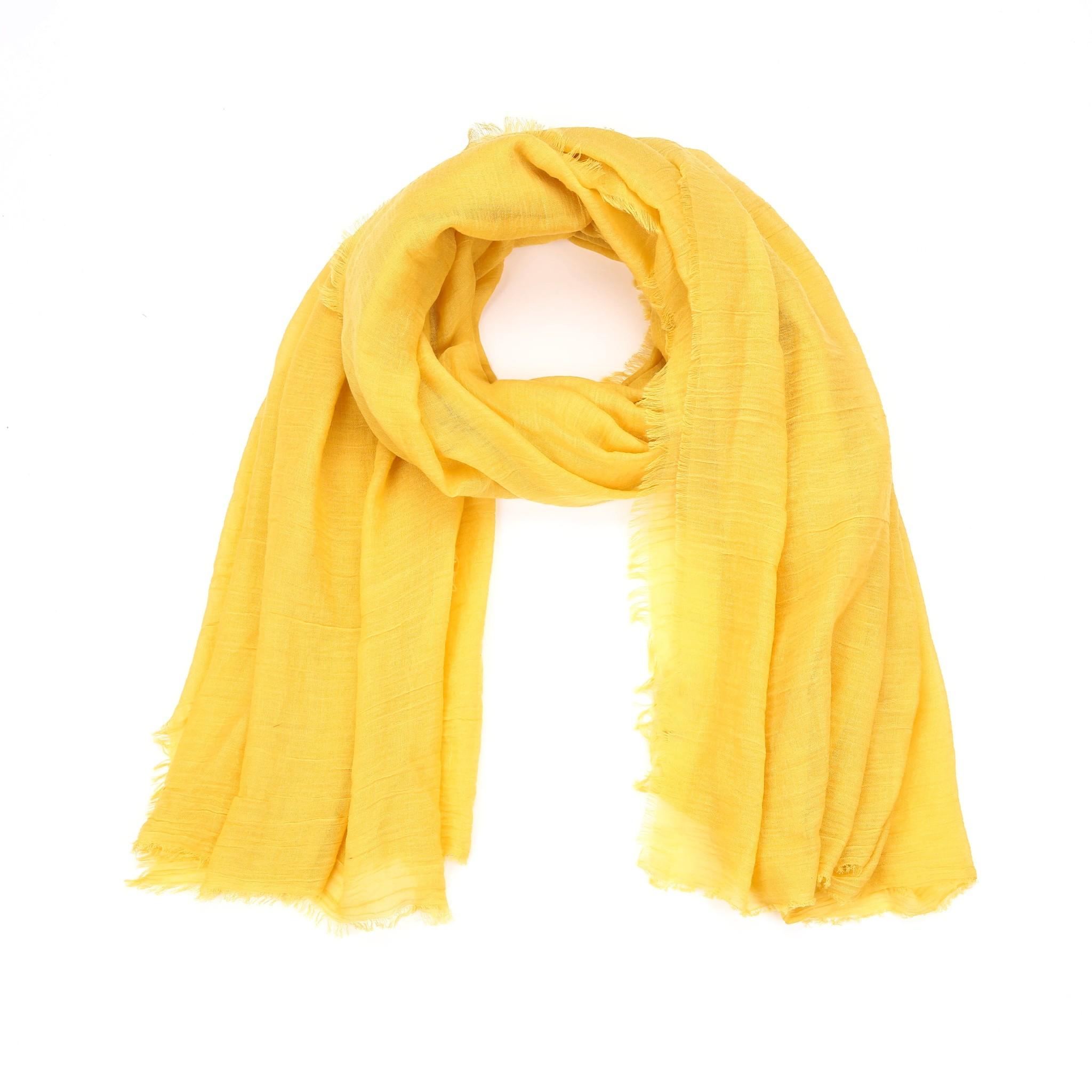 Plain Scarf Yellow