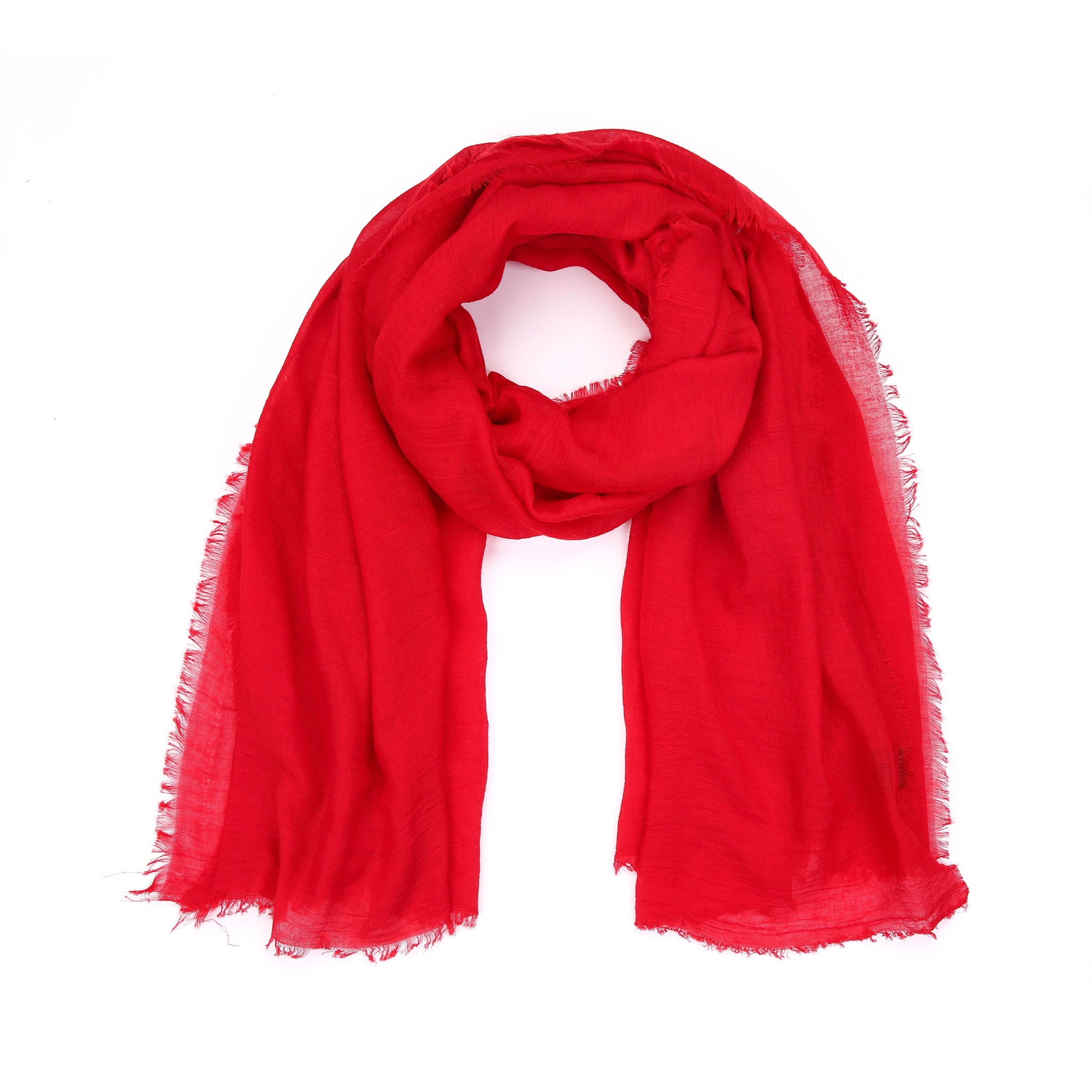 Plain Red Scarf