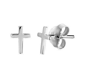 LAVI Zilveren Kruis Oorknoppen