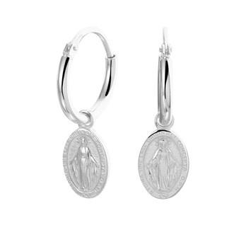 Scapular  Earrings Silver