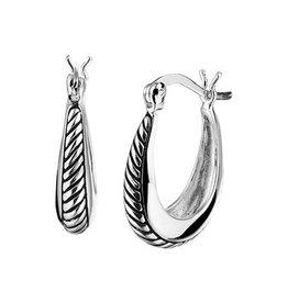 Ear Hoops Silver