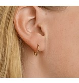 LAVI Gold on Silver Hoops with Ball Charm