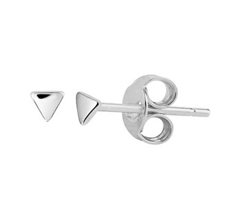 Mini Driehoek Oorknoppen - Echt Zilver