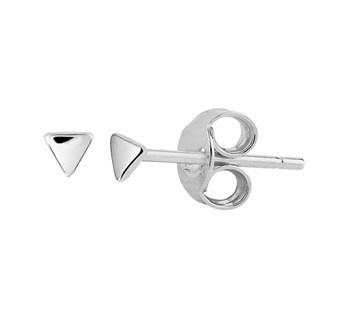 Sterling  Silver Mini Triangle Ear Studs