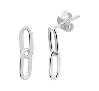 Hanging Chain Oorbellen - Echt Zilver