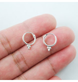 Ear hoops 3 dots 925 Silver