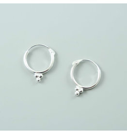3 dots Hoop Earrings