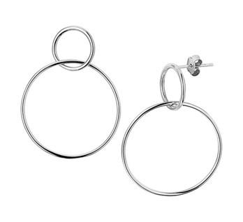 Echt Zilveren Innercircle Oorbellen
