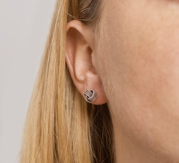 Knot Earstuds Sterling Silver