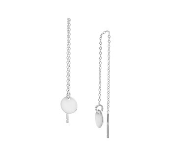 LAVI Pull through earrings Silver flat circle