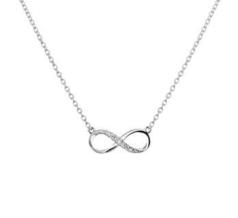 LAVI Infinity Necklace with Zircone