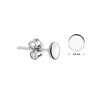 LAVI Sterling Silver Tiny Round Stud Earrings