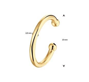 Ear cuff Verguld