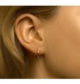 Sterling Silver Half Circle Hoop Earrings