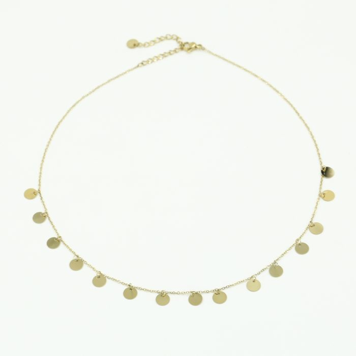 Gold Coin Necklace - Stella