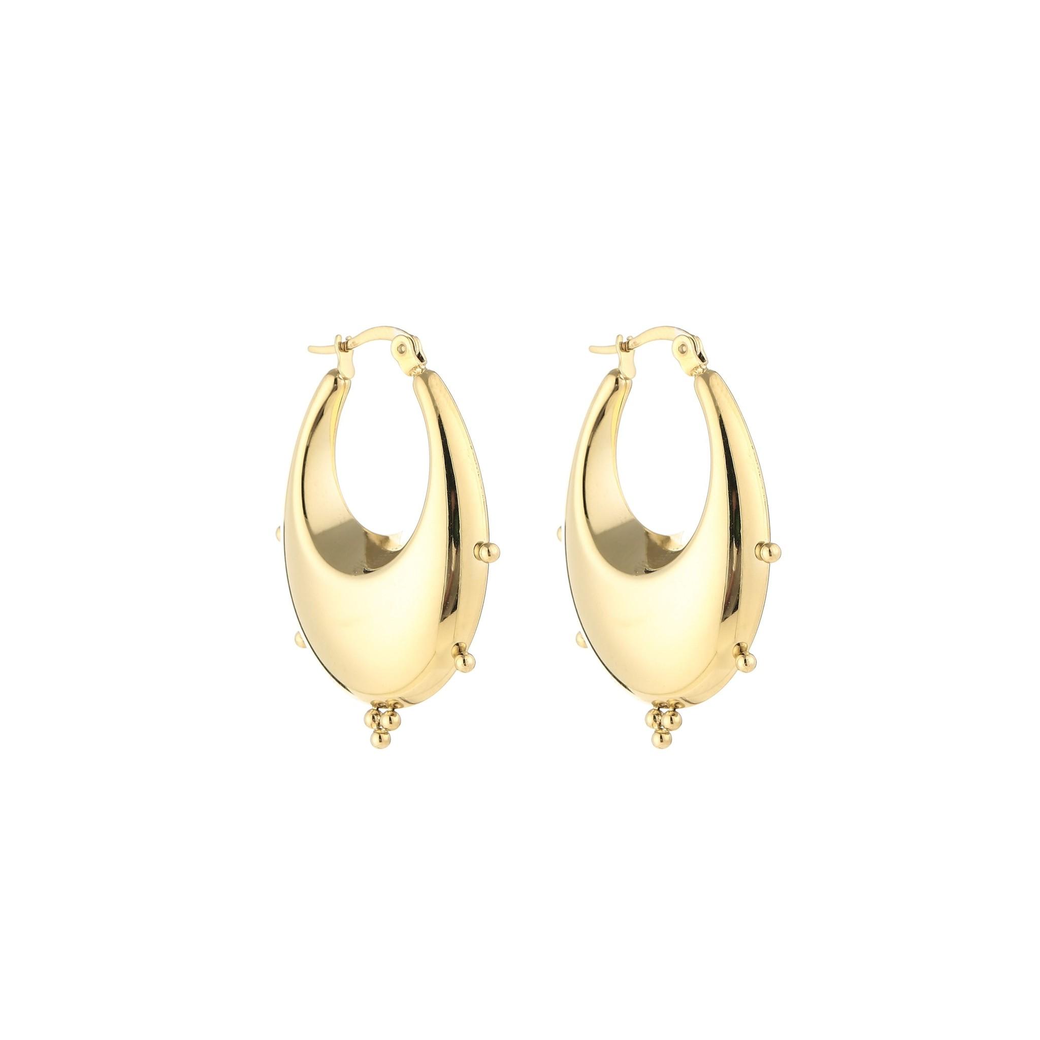 Gold Colored Bali Hoop Earrings